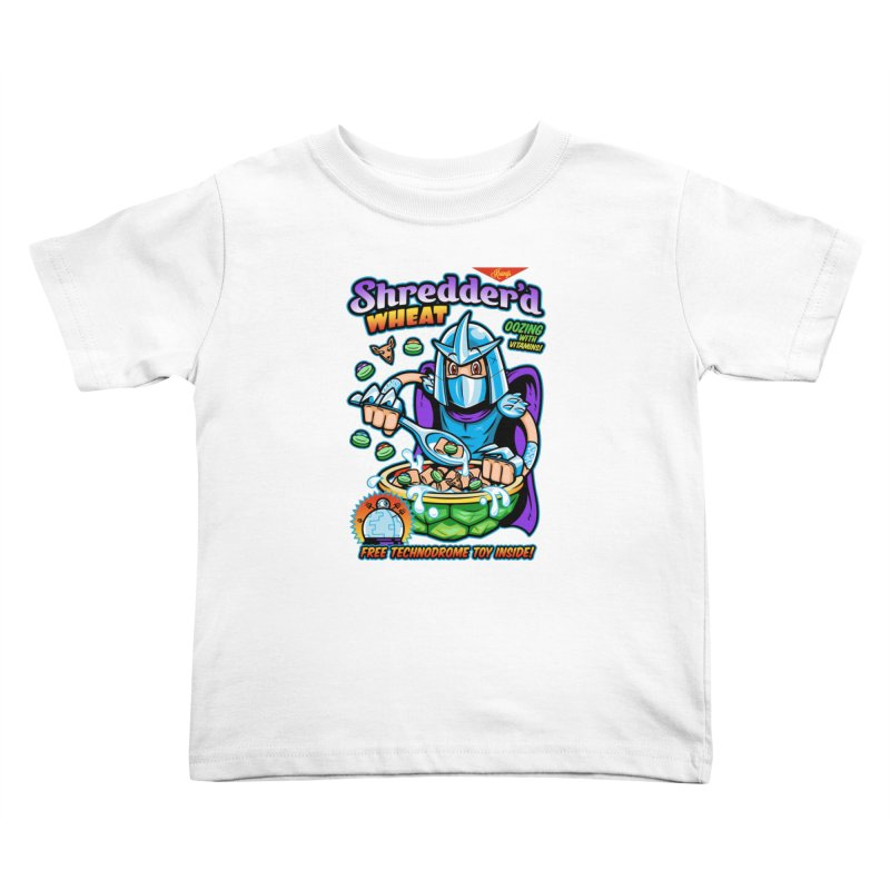Shredder'd Wheat Kids Toddler T-Shirt by harebrained's Artist Shop