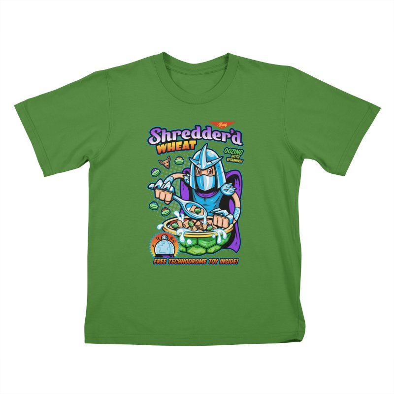 Shredder'd Wheat Kids T-shirt by harebrained's Artist Shop