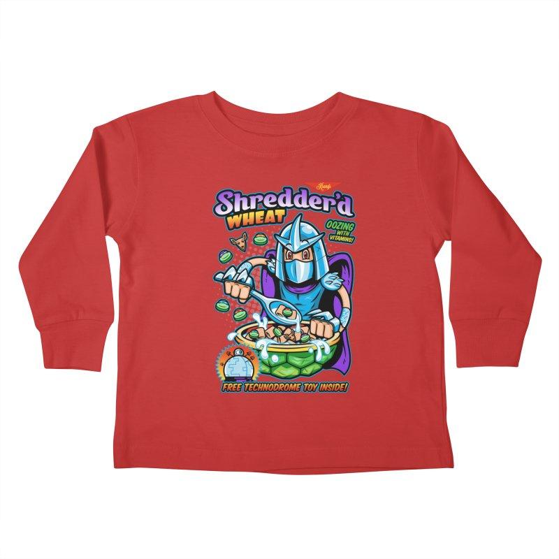 Shredder'd Wheat Kids Toddler Longsleeve T-Shirt by harebrained's Artist Shop