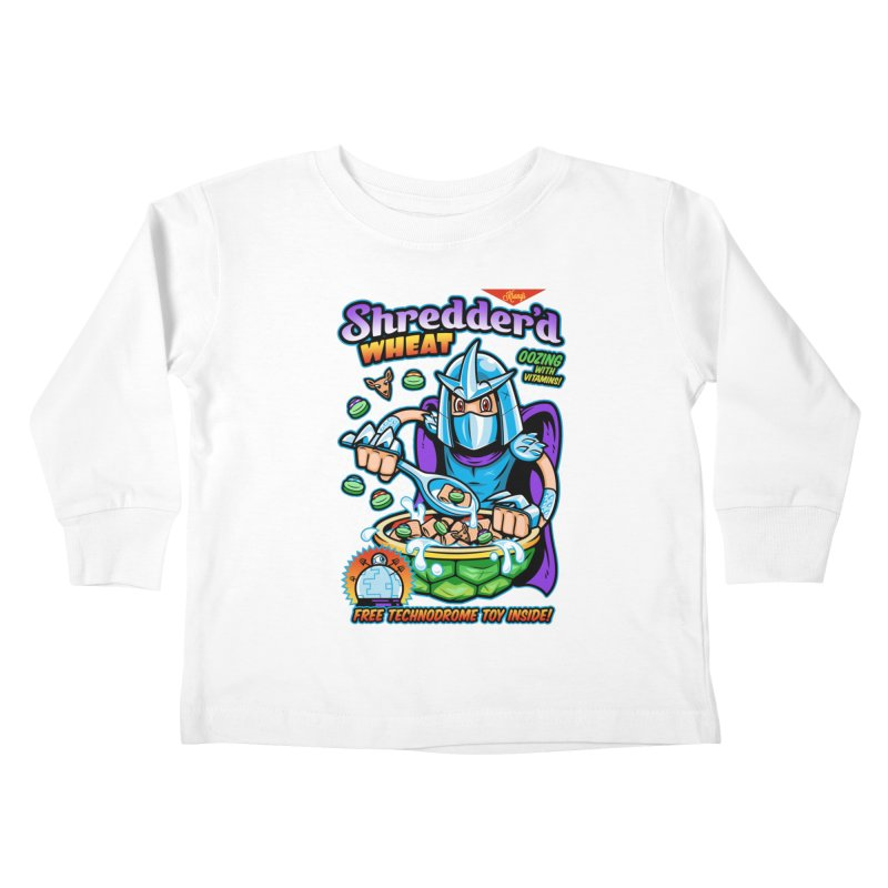 Shredder'd Wheat Kids Toddler Longsleeve T-Shirt by harebrained's Artist Shop