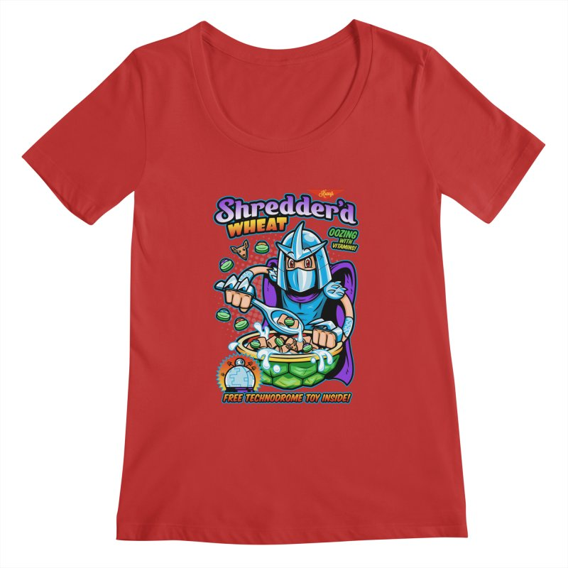 Shredder'd Wheat Women's Regular Scoop Neck by harebrained's Artist Shop