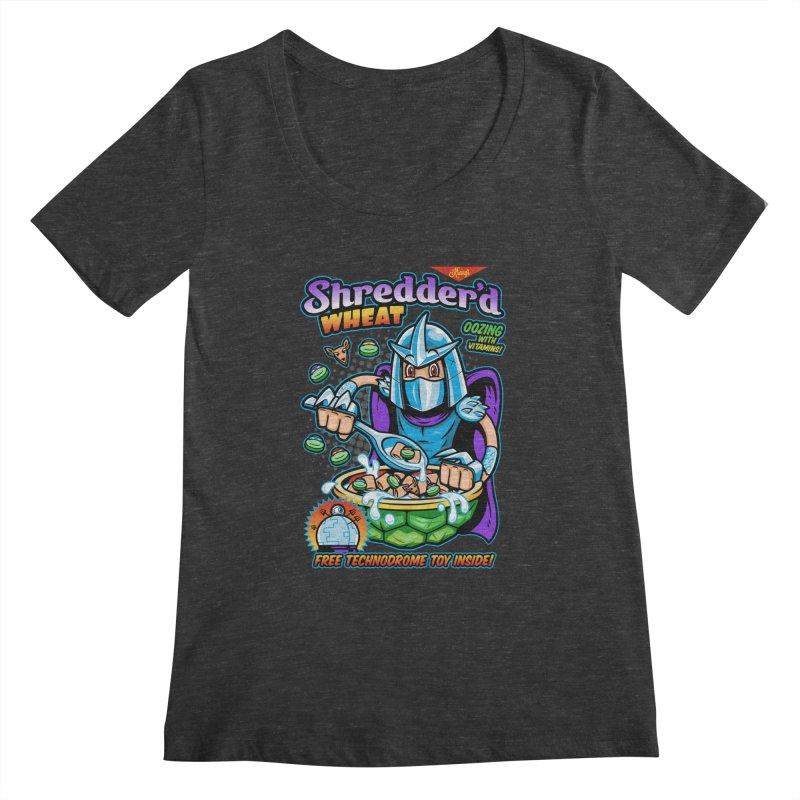 Shredder'd Wheat Women's Scoopneck by harebrained's Artist Shop
