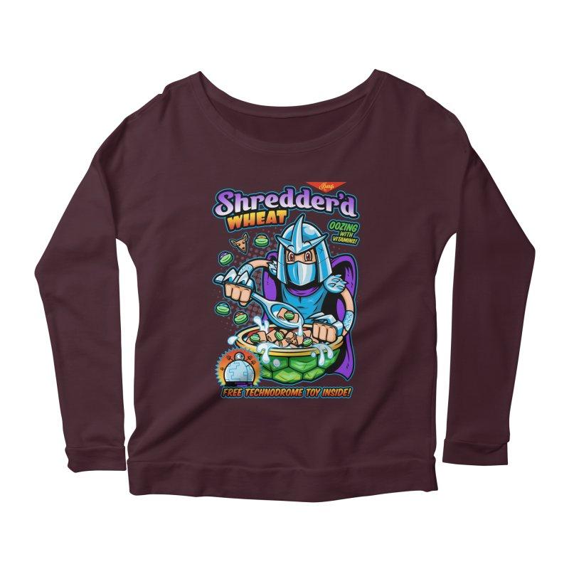 Shredder'd Wheat Women's Scoop Neck Longsleeve T-Shirt by harebrained's Artist Shop