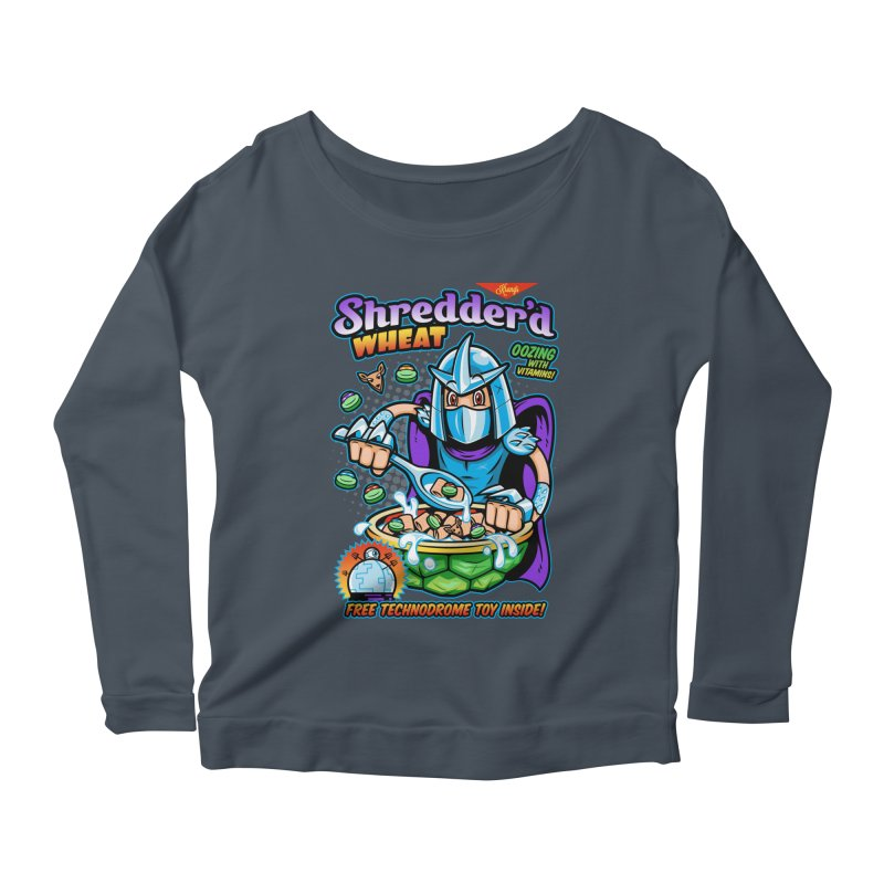 Shredder'd Wheat Women's Longsleeve Scoopneck  by harebrained's Artist Shop