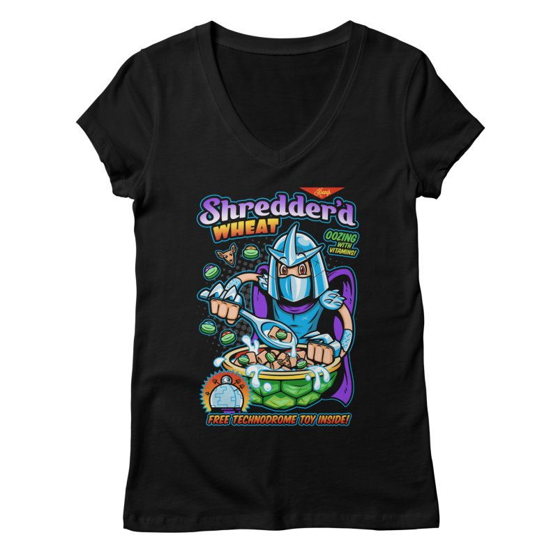 Shredder'd Wheat Women's Regular V-Neck by harebrained's Artist Shop