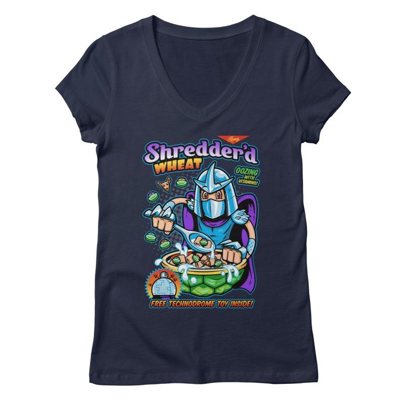 Shredder'd Wheat Women's Regular V-Neck by harebrained's Artist Shop