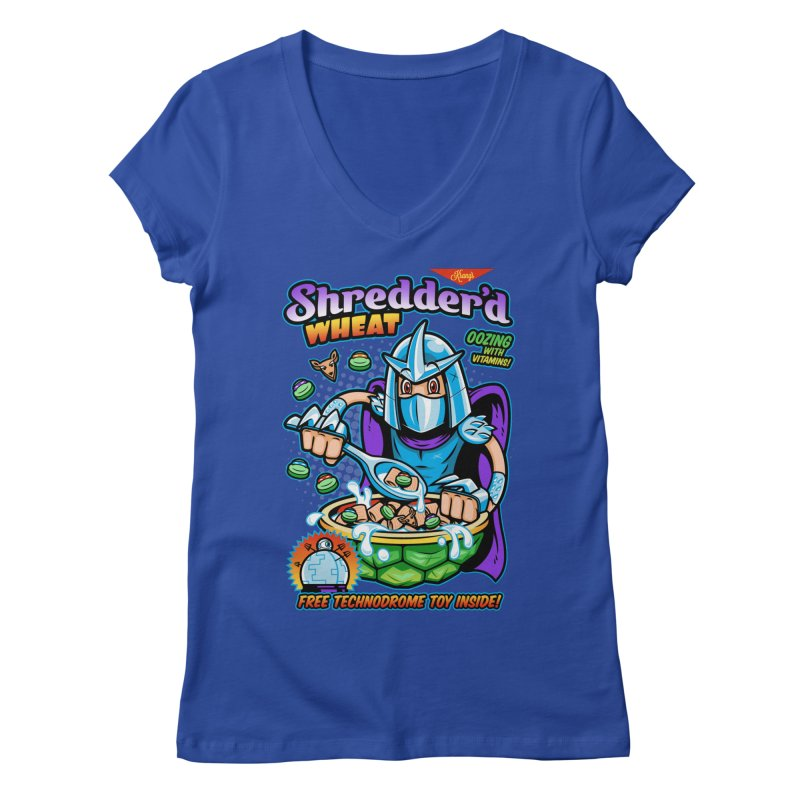 Shredder'd Wheat Women's V-Neck by harebrained's Artist Shop