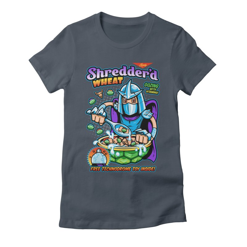 Shredder'd Wheat Women's Fitted T-Shirt by harebrained's Artist Shop