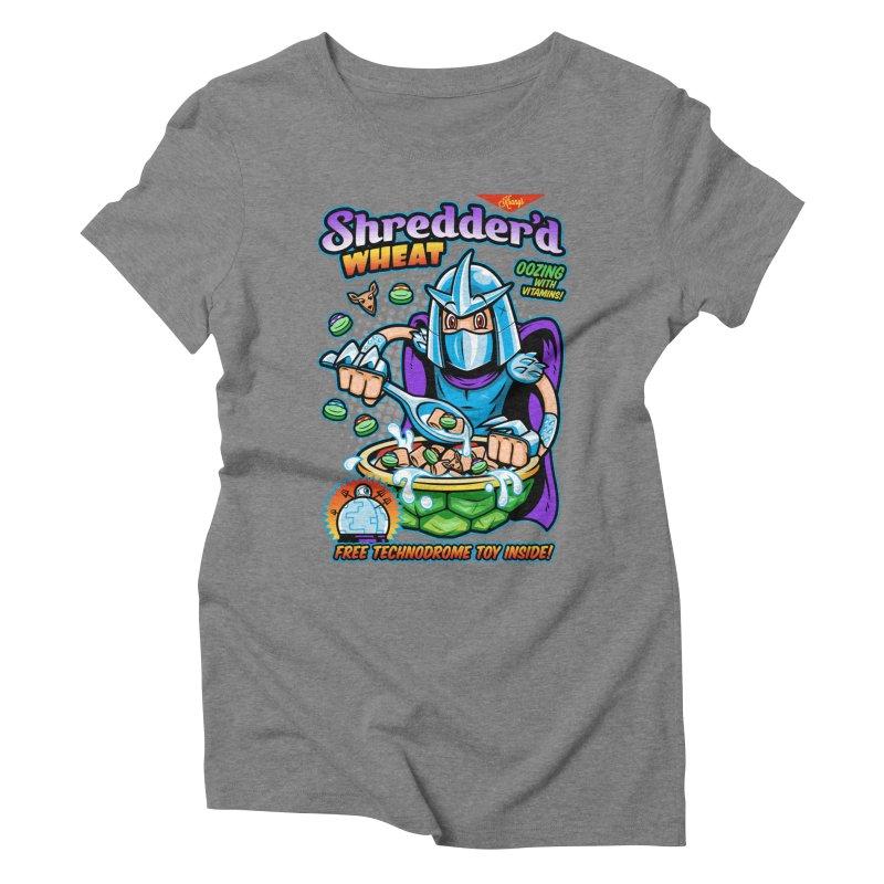 Shredder'd Wheat Women's Triblend T-Shirt by harebrained's Artist Shop