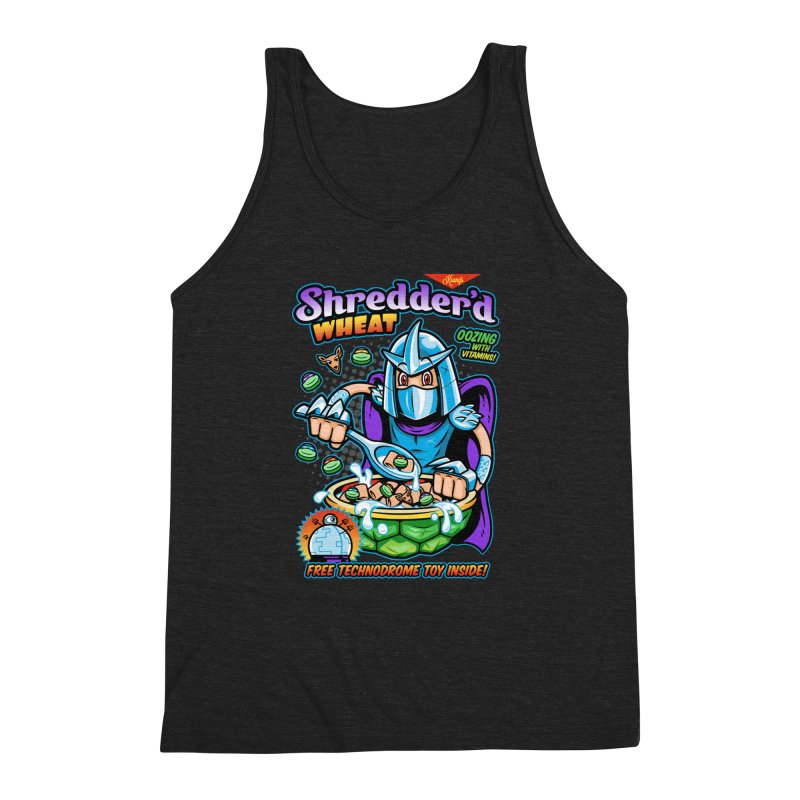 Shredder'd Wheat Men's Triblend Tank by harebrained's Artist Shop
