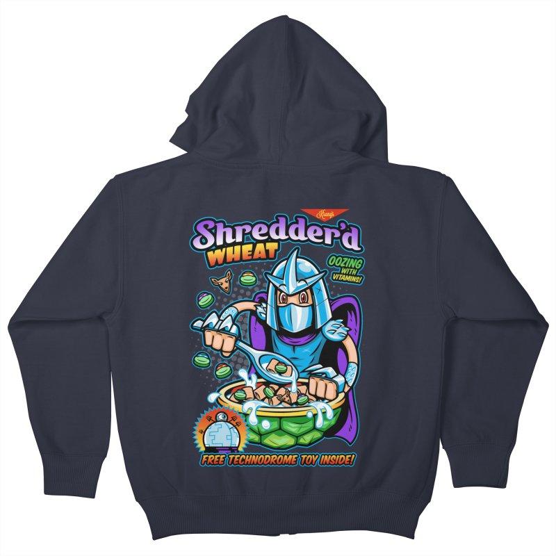 Shredder'd Wheat Kids Zip-Up Hoody by harebrained's Artist Shop