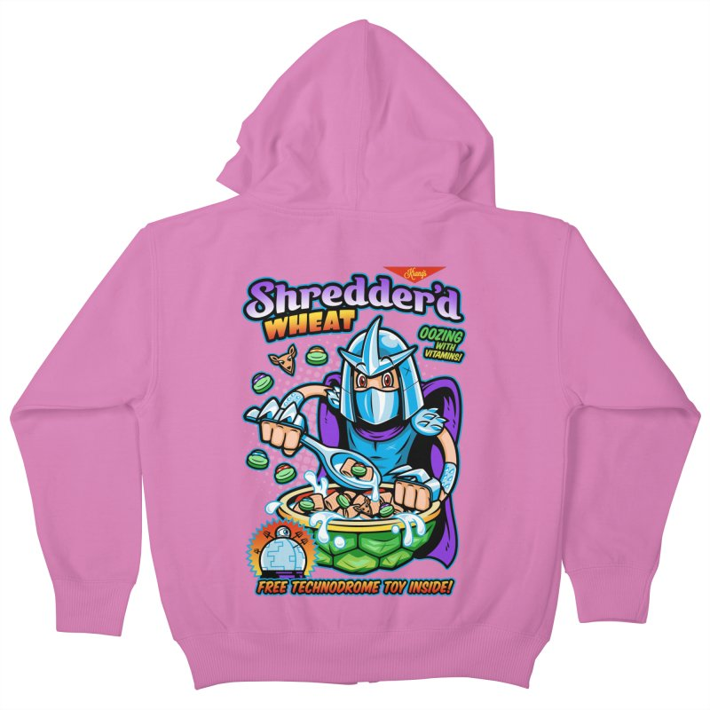 Shredder'd Wheat Kids Zip-Up Hoody by harebrained's Artist Shop