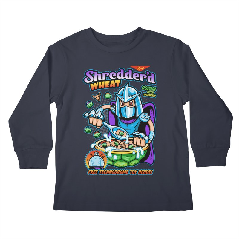 Shredder'd Wheat Kids Longsleeve T-Shirt by harebrained's Artist Shop