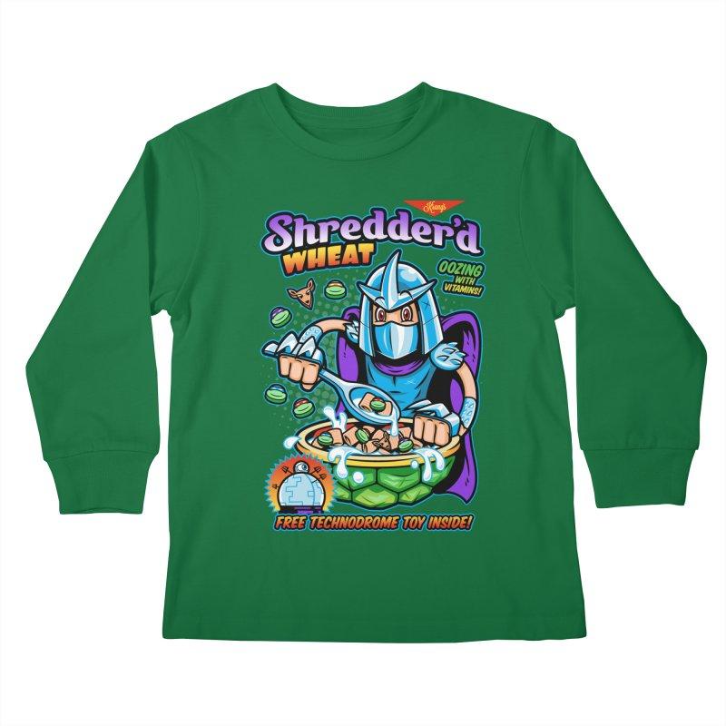 Shredder'd Wheat Kids Longsleeve T-Shirt by harebrained's Artist Shop