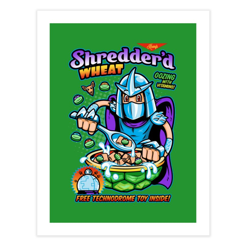 Shredder'd Wheat Home Fine Art Print by harebrained's Artist Shop