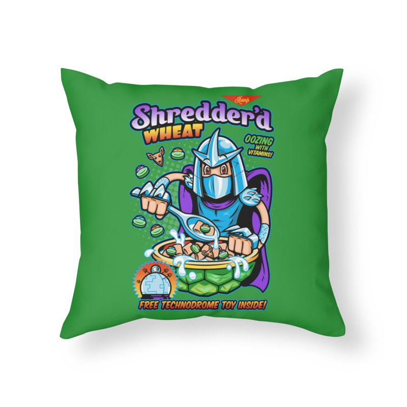Shredder'd Wheat Home Throw Pillow by harebrained's Artist Shop