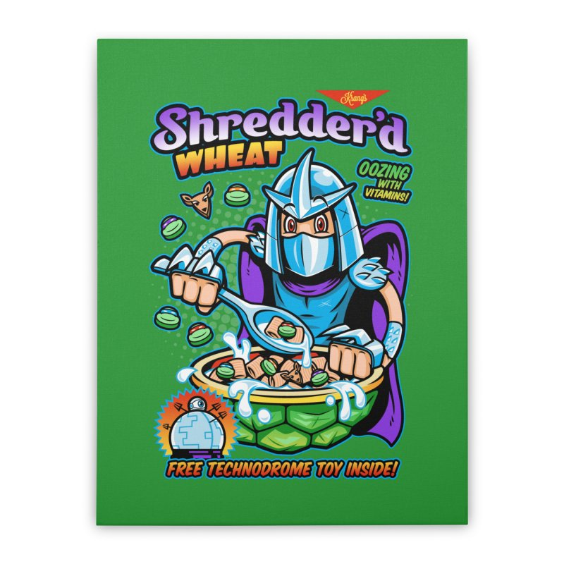 Shredder'd Wheat Home Stretched Canvas by harebrained's Artist Shop