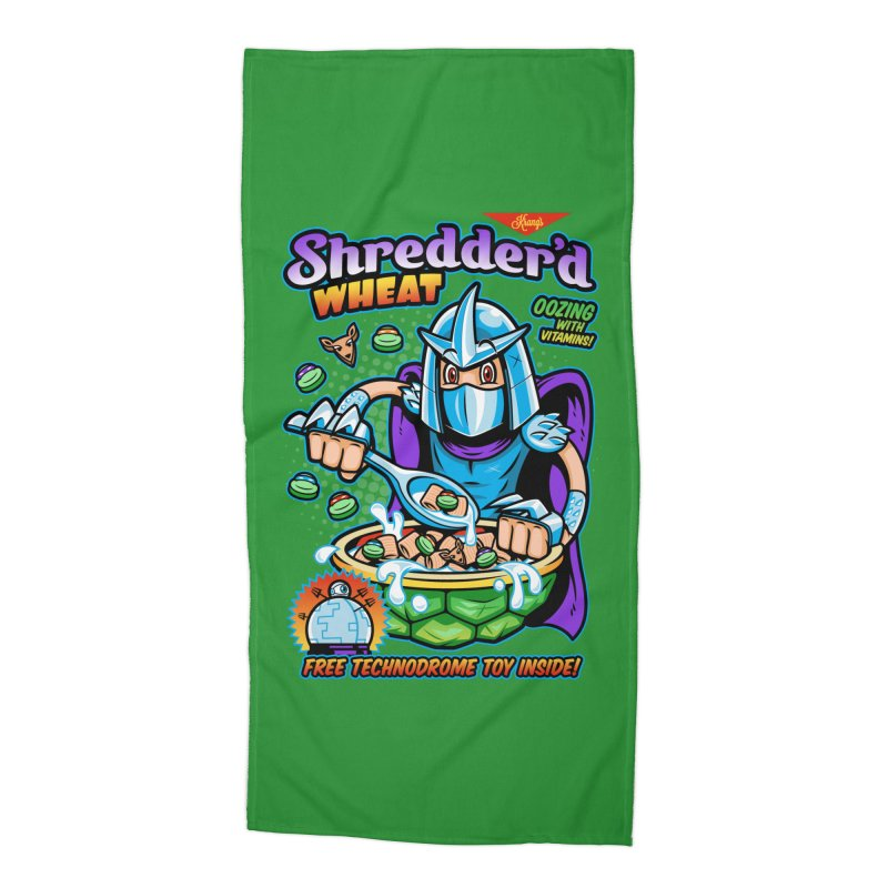 Shredder'd Wheat Accessories Beach Towel by harebrained's Artist Shop