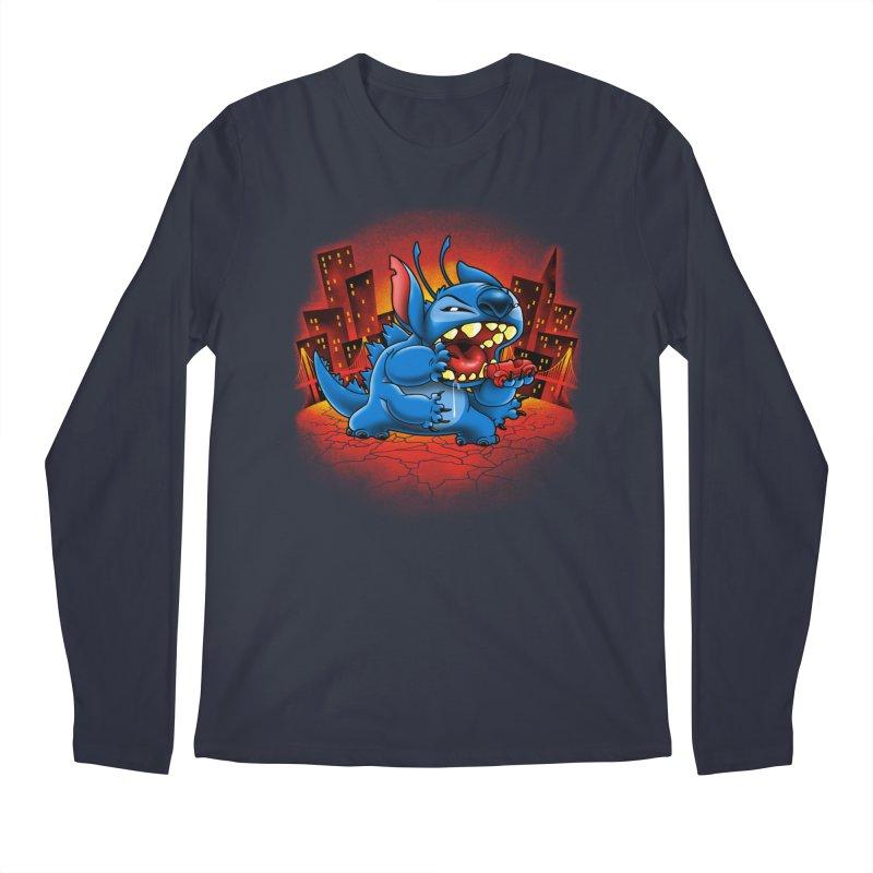Stitchzilla Men's Regular Longsleeve T-Shirt by harebrained's Artist Shop