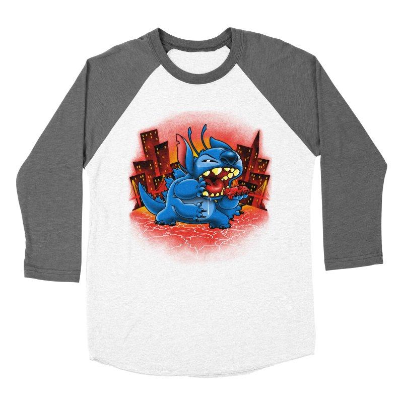 Stitchzilla Men's Baseball Triblend Longsleeve T-Shirt by harebrained's Artist Shop