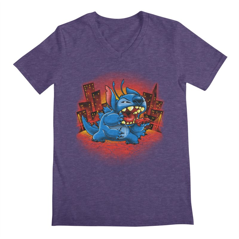 Stitchzilla Men's Regular V-Neck by harebrained's Artist Shop