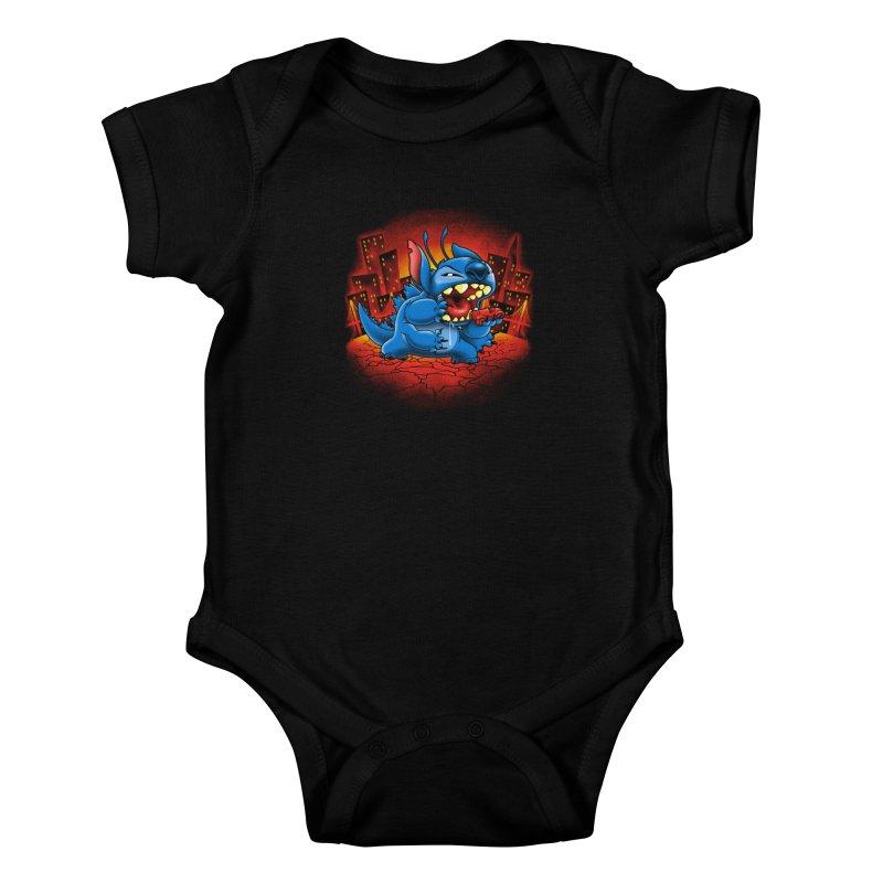 Stitchzilla Kids Baby Bodysuit by harebrained's Artist Shop