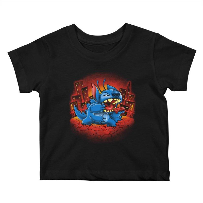 Stitchzilla Kids Baby T-Shirt by harebrained's Artist Shop
