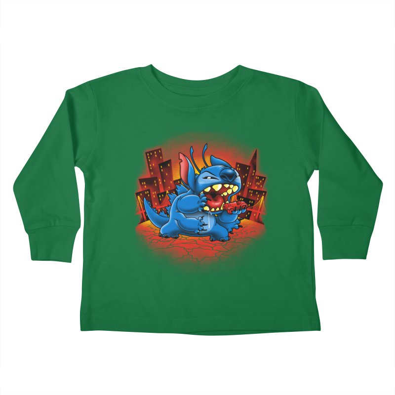 Stitchzilla Kids Toddler Longsleeve T-Shirt by harebrained's Artist Shop