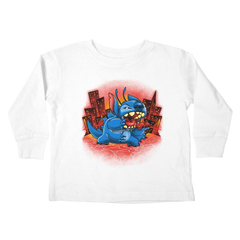 Stitchzilla Kids Toddler Longsleeve T-Shirt by harebrained's Artist Shop