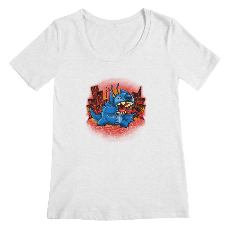 Stitchzilla Women's Scoopneck by harebrained's Artist Shop
