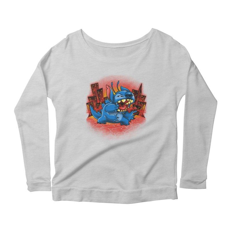 Stitchzilla Women's Scoop Neck Longsleeve T-Shirt by harebrained's Artist Shop