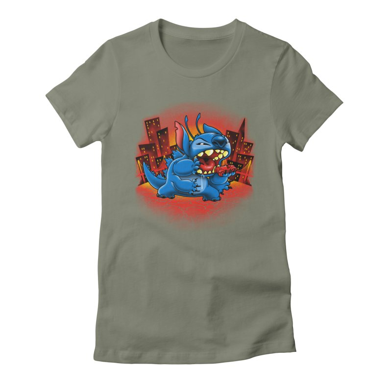 Stitchzilla Women's Fitted T-Shirt by harebrained's Artist Shop