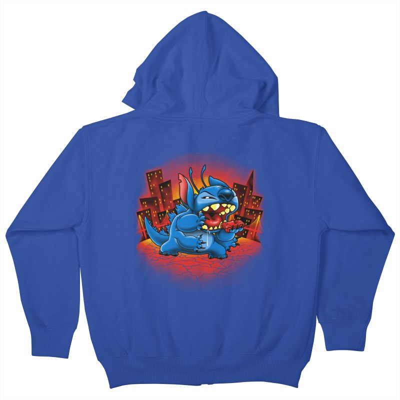 Stitchzilla Kids Zip-Up Hoody by harebrained's Artist Shop