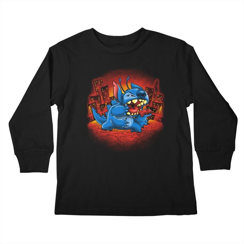 Stitchzilla Kids Longsleeve T-Shirt by harebrained's Artist Shop