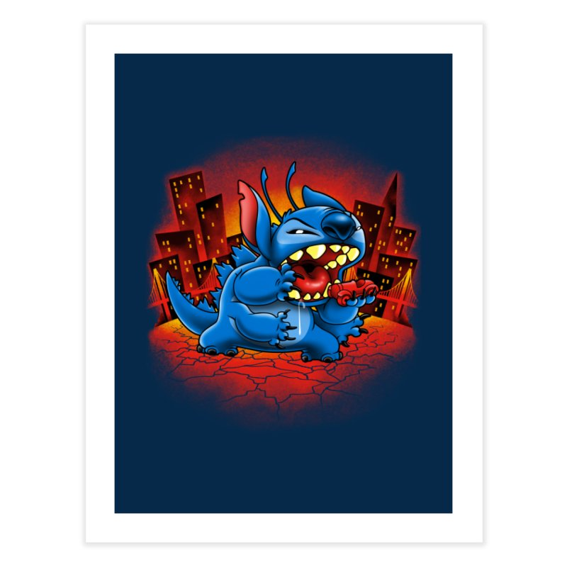 Stitchzilla Home Fine Art Print by harebrained's Artist Shop