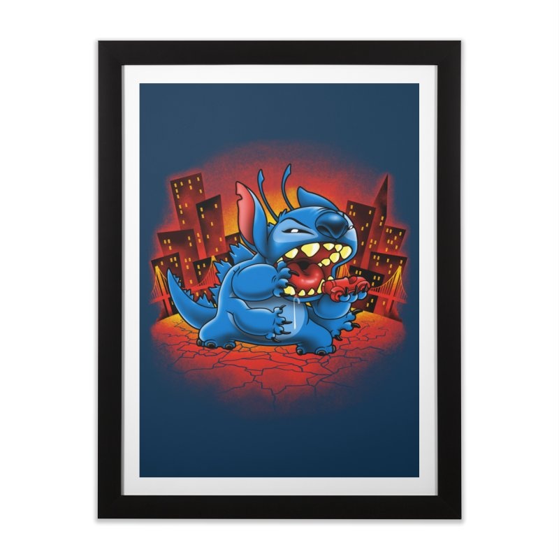 Stitchzilla Home Framed Fine Art Print by harebrained's Artist Shop