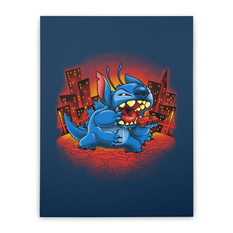 Stitchzilla Home Stretched Canvas by harebrained's Artist Shop