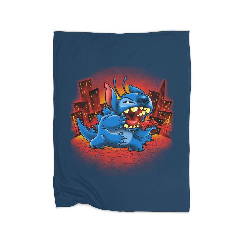 Stitchzilla Home Fleece Blanket Blanket by harebrained's Artist Shop