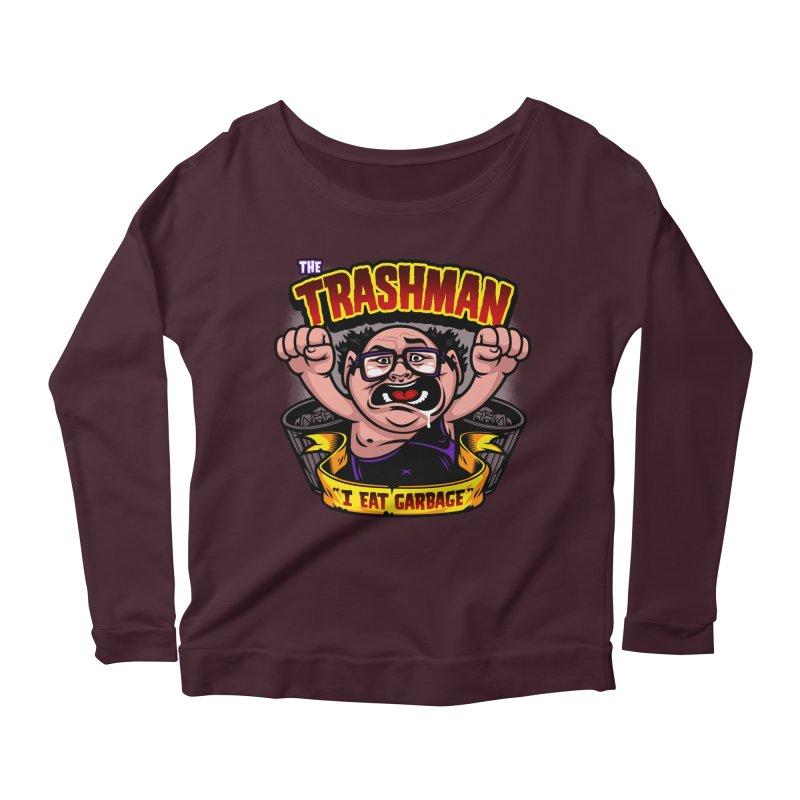 The Trashman Women's Longsleeve Scoopneck  by harebrained's Artist Shop