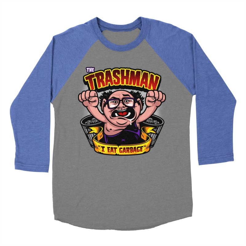The Trashman Men's Baseball Triblend T-Shirt by harebrained's Artist Shop