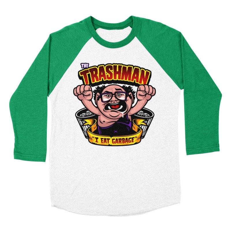 The Trashman Men's Baseball Triblend Longsleeve T-Shirt by harebrained's Artist Shop
