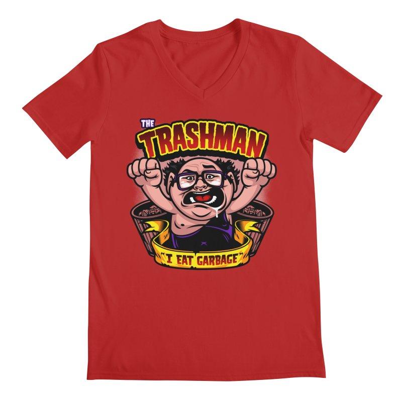 The Trashman Men's V-Neck by harebrained's Artist Shop