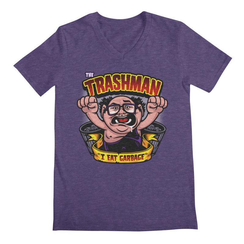 The Trashman Men's Regular V-Neck by harebrained's Artist Shop
