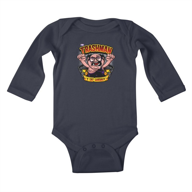 The Trashman Kids Baby Longsleeve Bodysuit by harebrained's Artist Shop