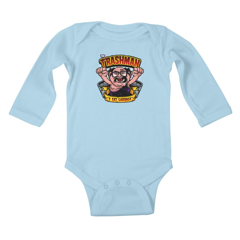 The Trashman Kids Baby Longsleeve Bodysuit by harebrained's Artist Shop