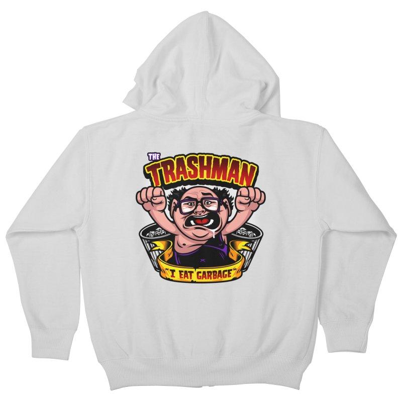 The Trashman Kids Zip-Up Hoody by harebrained's Artist Shop
