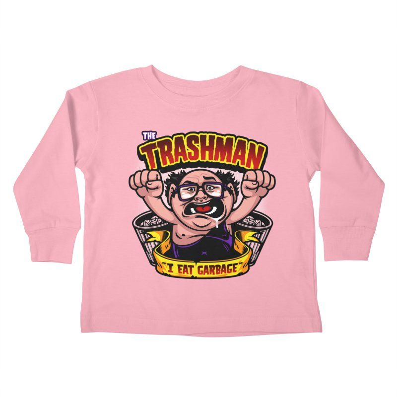 The Trashman Kids Toddler Longsleeve T-Shirt by harebrained's Artist Shop
