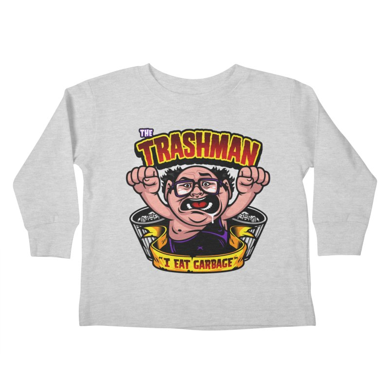 The Trashman Kids Toddler Longsleeve T-Shirt by harebrained's Artist Shop