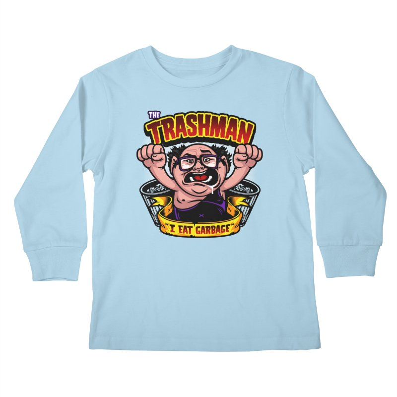 The Trashman Kids Longsleeve T-Shirt by harebrained's Artist Shop