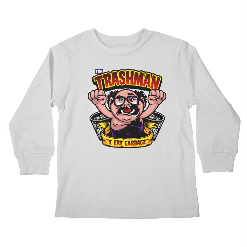 The Trashman Kids Longsleeve T-Shirt by harebrained's Artist Shop
